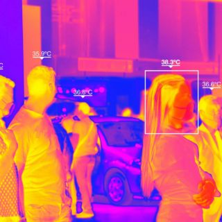 Thermal Camera to control body temperature due to the Coronavirus pandemic
